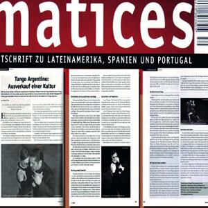 Matices, 3 Seitiger Beitrag von Nicole Nau: Ausverkauf einer Kultur, 2011
