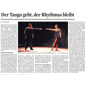 Musical Dome Cologne. The tango is, the rhythm remains. Much more than just Tango Argentino. Thunderous applause, Kölner Stadt Anzeiger, 2015
