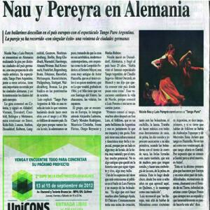Nau Pereyra in Deutschland. Sie bewegen die Seelen. 2011