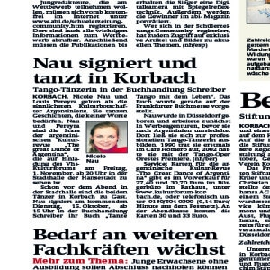 Nau firma su libro en Korbach, 2013