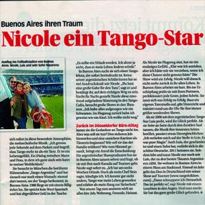 Nicole ein Tango Star, Tina 2012