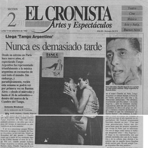 It's never too late, El Cronista