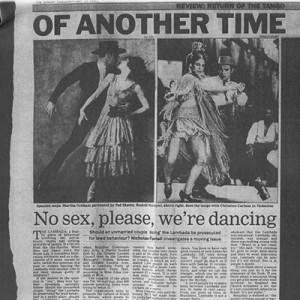 Of another time, no sex please, we are dancing