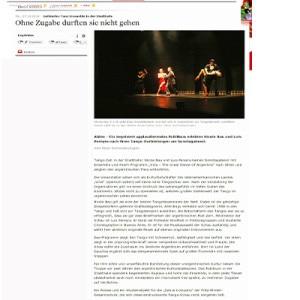 Ohne Zugaben durften sie nicht gehen, 2014 Ahlener Zeitung