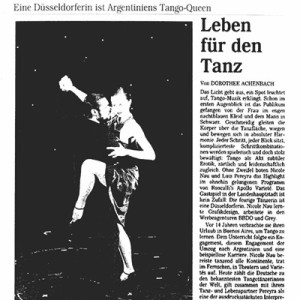 Ohne Zweifel boten Nicole Nau & Luis Pereyra das Highlight in dem ohnehin sehr gelungenen Roncalli Programm. Rheinische Post, 2003