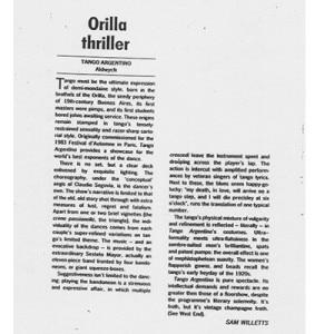 Orilla Thriller, Theatre Aldewych Londres