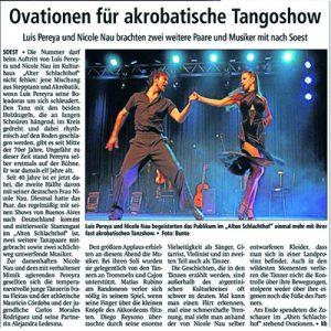 Ovationen für akrobatische Bühnenshow, 2012