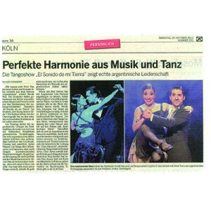 Perfekte Harmonie aus Musik und Tanz, 2012