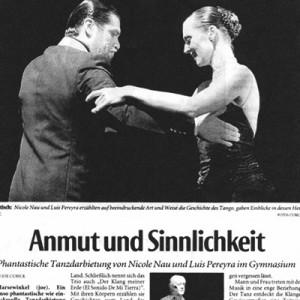 Phantastische Tanzdarbietung von Nicole Nau & Luis Pereyra,