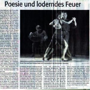 Poesie und loderndes Feuer, mitreißsend, fulminant, hinreißende Tanzshow, 2007