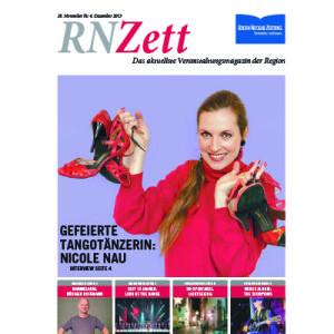Gefeierte Tangotänzerin, Nicole Nau, RN Zett Titelblatt, 2013