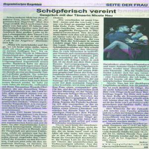 Schöpferisch vereint, Argentinisches Tageblatt, 2007