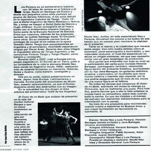 Sehr zu empfehlen, La Prensa 2008