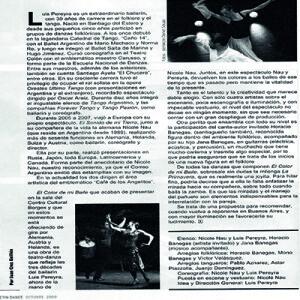 Sehr zu empfehlen, hier zeigt sich wirklich Buenos Aires und Argentinien, Balletin Dance 2008