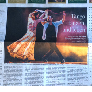 They have long been a dream couple of the Tango, Hamburger Abendblatt 2014