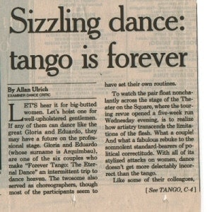 Sizzeling Dance, Tango is forever