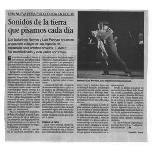Sonidos de la Tierra que pisamos cada día, 2001 La Prensa