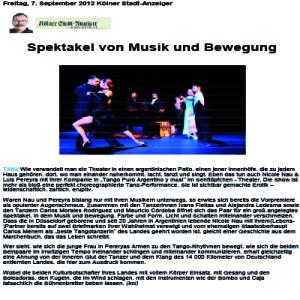 Espectáculo de música y movimiento, 2011