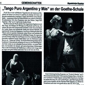 Stehende Ovation, Argentinisches Tageblatt 2012