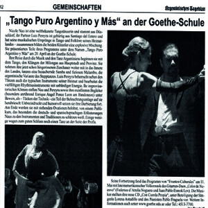 Ovaciones de pie, Argentinisches Tageblatt
