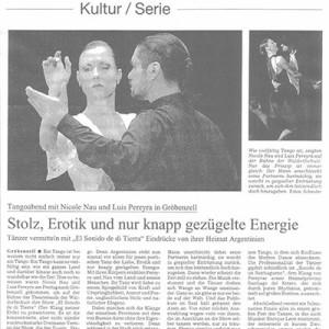 Orgullo, erotismo y una energía tremenda. Finale fulminante. Süddeutsche Zeitung 2005