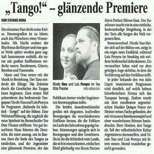 Tango- debut brillante, 2007