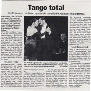 Tango Total, Nicole Nau & Luis Pereyra entregaron un espectáculo atrapante, 2006