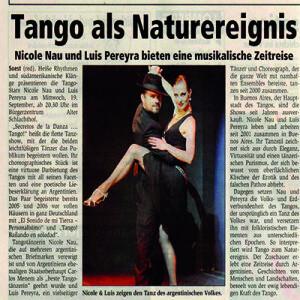 Tango als Naturereignis, 2007