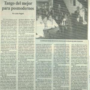 Vom besten Tango für Postmoderne, Clarin