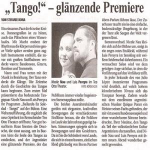 Tango, debut brillante, Teo Otto Teatro 2006