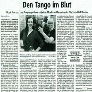 Tango im Blut, 2013