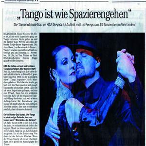 Tango ist wie Spazieren Gehen, ein Interview, 2007