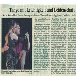 Tango mit Leichtigkeit und Leidenschaft. Tosender Applaus von begeistertem Publikum, Coesfeld 2007