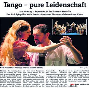 Tango, pura pasión, 2011