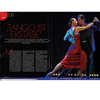 Tango is ecstasy in 2014 double page DONNA