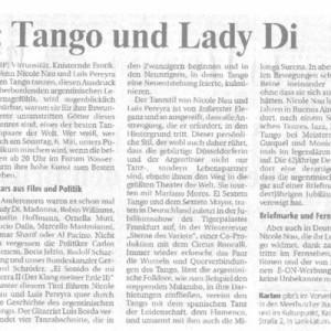 Tango und Lady Di, Rheinische Post 2005