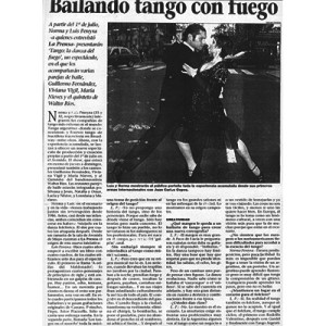 Tango dance with fire, 1998