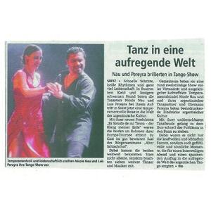 Nau Pereyra brillierten in Tango Show. Tanz in eine aufregende Welt, 2013