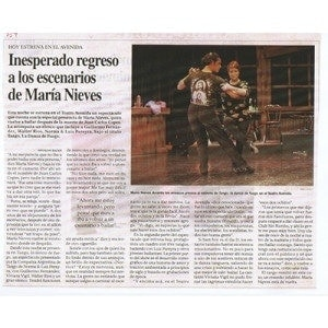 Teatro Avenida, Espectáculo de Luis Pereyra, 1998