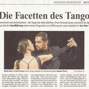Temperamentvoll und Melancholisch. Feurige Vereinigung der argentinischen Seele. Die Facetten des Tango, RGA 2006