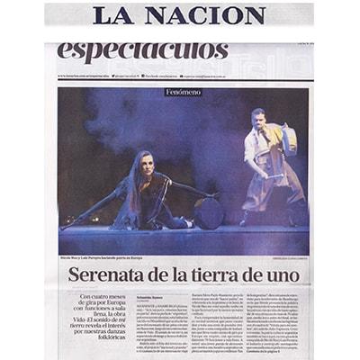 Título de Espectáculo: Serenata de la tierra de uno, LA NACIÓN 2015