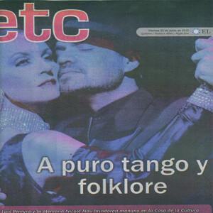 Titelseite, 2012 Purer Tango und Folklore