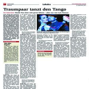 Traumpaar tanzt den Tango, ein Interview, 2011