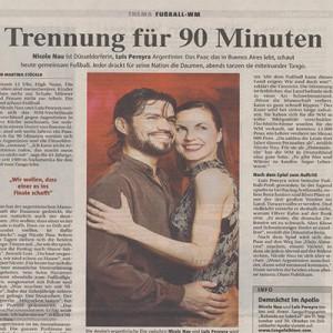 Trennung für 90 Minuten, Beitrag zur WM, Rheinische Post 2006