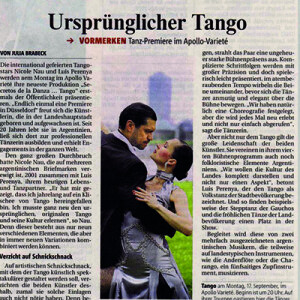 Tango autentico, debut en el Apollo, RP, 2007