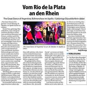 Del Rio de la Plata al Rhin, 2013
