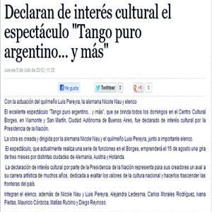 """Vom Staat als """"de interes cultural"""" - von kulturellem Interesse deklariert. 2011"""