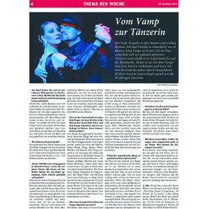 De la mujer glamurosa a bailarina profesional, Rhein Neckar Zeitung, 2013