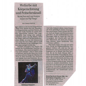 World Heritage with body swing and whip, Berliner Zeitung 2014