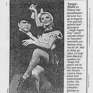 Wiener Raymond Theater, ein Traum von Tango